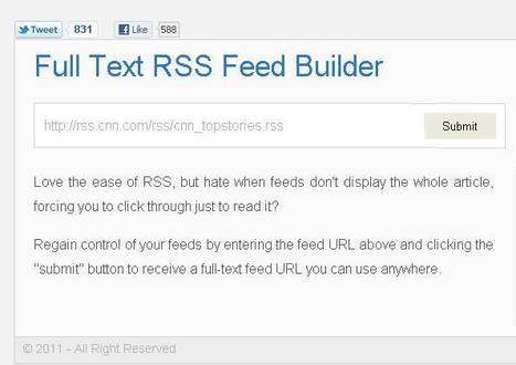 4 services pour lire les rss complet des blogs aux flux tronqués [MAJ] | Technologie Au Quotidien | Scoop.it