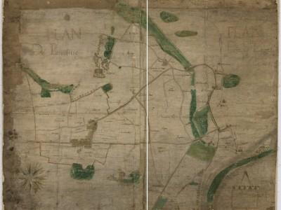 Plan d'arpentage ancien - Archives municipales de Saint-Denis | GenealoNet | Scoop.it