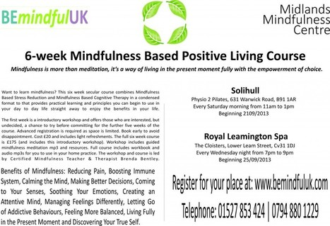 Mindfulness in Leamington Spa and Solihull | Living Mindfulness & Compassion | Scoop.it