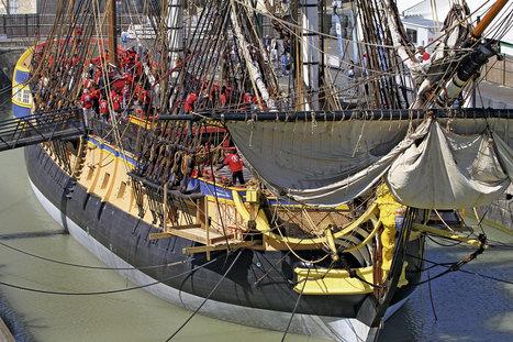 """""""Hermione"""". Le navire mythique met enfin les voiles   Le Voyage de l'Hermione   Scoop.it"""