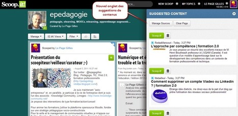 Nouvel onglet de suggestions de contenu : très pratique ! | Les trouvailles de Froggy'Net | Scoop.it
