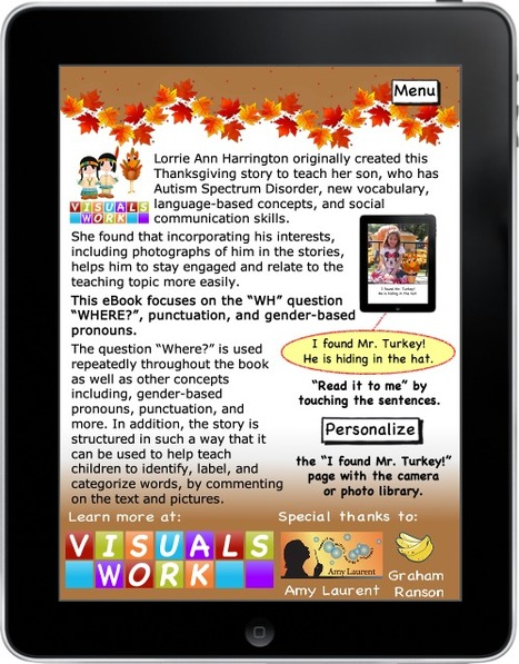 Mr. Turkey, where are you? eBook (iPhone, iPod touch & iPad) | Communication and Autism | Scoop.it