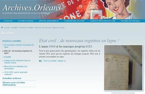 AC Orléans : du nouveau en ligne | CGMA Généalogie | Scoop.it