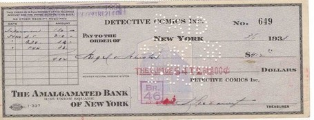 Behold the Check DC Comics Wrote in 1938 for the Exclusive Rights to Superman | Transmedia: Storytelling for the Digital Age | Scoop.it