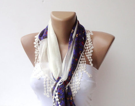 Scarf, purple, women New Traditional YEMENI Turkish Lace ,authentic,romantic,elegant,fashion,neckwarmer cowl pink,purple, gift for her | Knit Ruffled Scarf,multicolor scarf,2013 NEW TREND SCARF,accessories,gifts for her,fashion,long scarf | Scoop.it