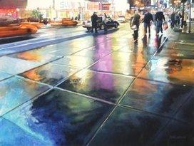 """""""Neon Rain""""   Watercolor   Scoop.it"""