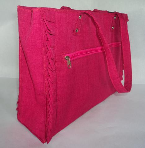 Simple Ruffled Tote Bags   Handmade Bags - Abaca Bags   Scoop.it