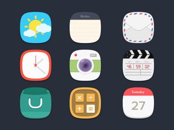 Free Psd Flat Icons Resources | Design | InspirationMart.com | Inspiration mart | Scoop.it