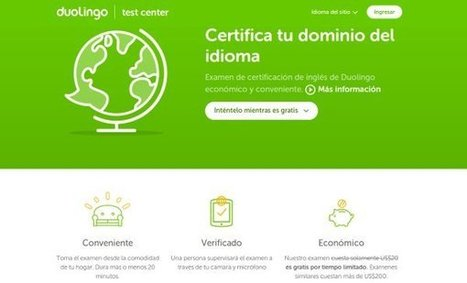 Duolingo lanza examen para certificarse en idioma inglés en solo 20 minutos | Aprender idiomas | Scoop.it