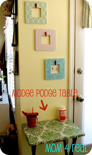 TV tray turned DIY craft table. - Mod Podge Rocks | Crafts to Try | Scoop.it