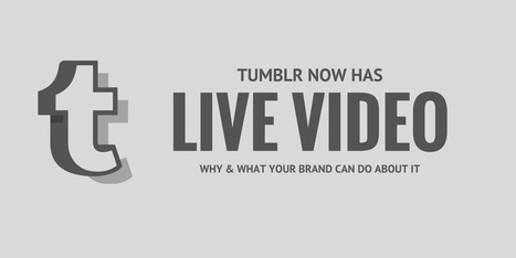 Tumblr Now Has Live Video: Why and What Your Brand Can Do About It | Simply Measured | Go Social Media | Scoop.it