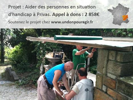 Il faut 2858€ pour aider des personnes handicapées à Privas (07) | undonpouragir | Scoop.it