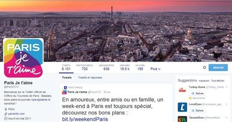 #ParisJeTaime, la belle histoire de l'Office de Tourisme de Paris sur Twitter | Numérique | Scoop.it