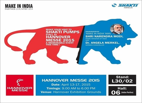 Shakti Pumps going to participate in Hannover Messe 2015 - Shakti Pumps | Water Pumps Manufacturers | Scoop.it