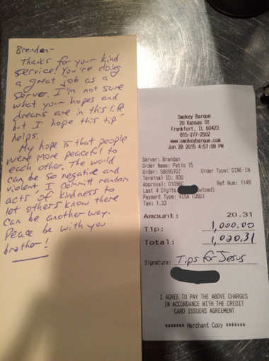 19-Year-Old Restaurant Server Receives A $1,000 Tip From Stranger, Can't Believe It's Real | This Gives Me Hope | Scoop.it