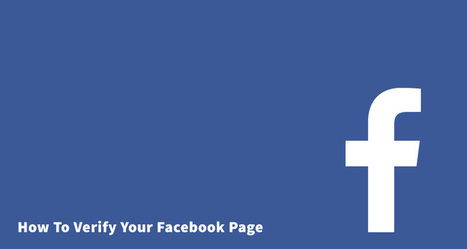 How To Verify Your Facebook Page | Online Marketing Resources | Scoop.it