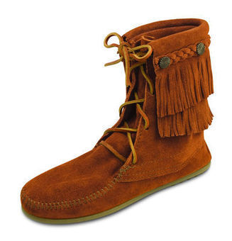 Double Fringe Tramper Boot | TheMoccasinShop | Scoop.it