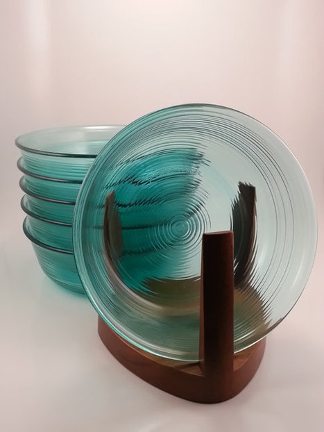 Vintage 1970s Arcorac Turquoise Bowls Set of 6 | AtomicVault.etsy.com | Scoop.it