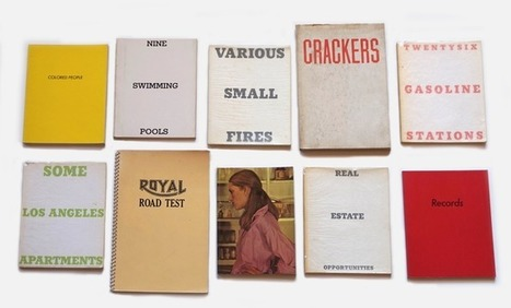 Bookmarking Book Art - Collection of Ten Artists Books, Ed Ruscha   Books On Books   Scoop.it