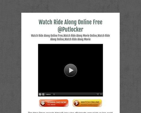 Watch Ride Along Online Free @Putlocker - Tackk | movie | Scoop.it