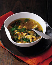 Garlicky White Bean Soup with Chicken and Chard Recipe - Judith Barrett | Food & Wine | 4-Hour Body Bean Cookbook | Scoop.it