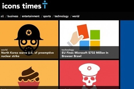 News Stories Represented Only By Graphic Icons - PSFK | Personas 2.0: #SocialMedia #Strategist | Scoop.it