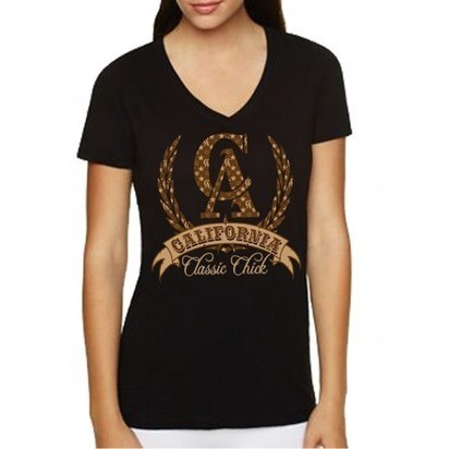 Classic Louie V-Neck (Black) | Cali Tees for Women | Scoop.it