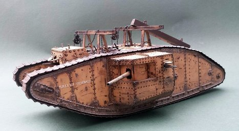 Heavy Tank Mark I Land Ship, Palistine WWI | Military Miniatures H.Q. | Scoop.it