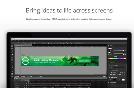 Google Web Designer Beta Launches For HTML 5 Creativity (video) - Geeky gadgets | Graphic and Web Designing Jobs | Scoop.it