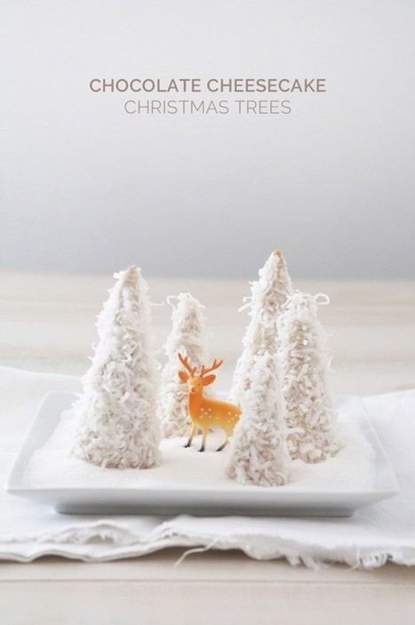 Chocolate Cheesecake Christmas Trees | Candy Buffet Weddings, Events, Food Station Buffets and Tea Parties | Scoop.it