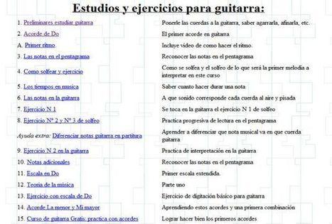 Curso online y gratuito de guitarra con ejercicios prácticos | Wepyirang | Scoop.it