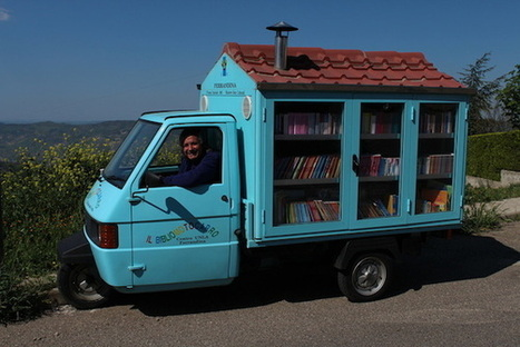 Parcourir l'Italie en Piaggio Ape, et faire découvrir la lecture aux jeunes | Insolite bibliothèque | Scoop.it