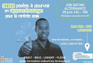 360 offres d'emploi en alternance : job dating le 28 juin à Brest, Bruz, Lorient, Plérin | Industrie en Bretagne | Scoop.it