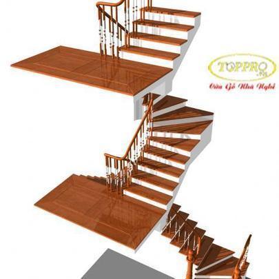 cầu thang gỗ đẹp-mẫu cầu thang gỗ | vemaybaygiare | Scoop.it