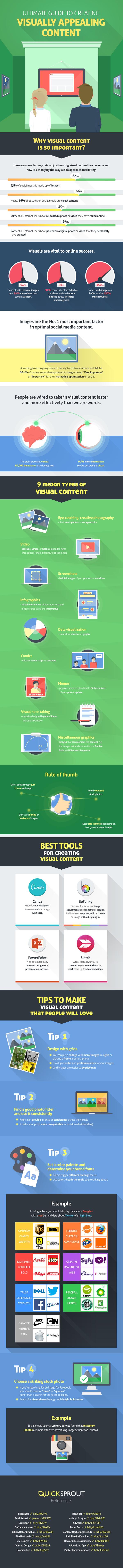 Astuces pour créer des contenus visuels attirants [Infographie] #Webmarketing | Search engine optimization : SEO | Scoop.it