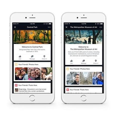 Facebook lance Place Tips pour fournir des infos détaillées sur les lieux | Chambre et table hôte Savoie | Scoop.it