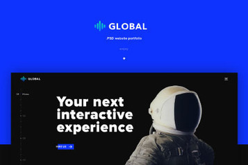Global Free PSD Template - Free Design Resources