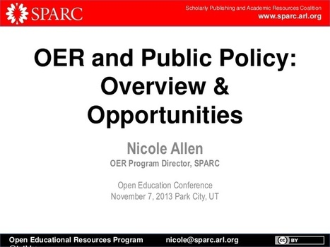 OER Policy: Overview & Opportunities (#opened13... | OER Open Educational Resources | Scoop.it