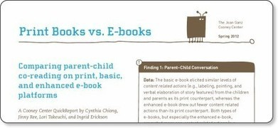 "School Library Monthly Blog » Blog Archive » Study Compares Enhanced to ""Standard"" Children's eBooks 