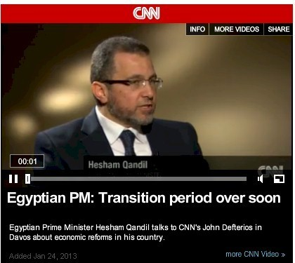 Egyptian PM: Transition period over soon (CNN interview ) | Égypte-actualités | Scoop.it