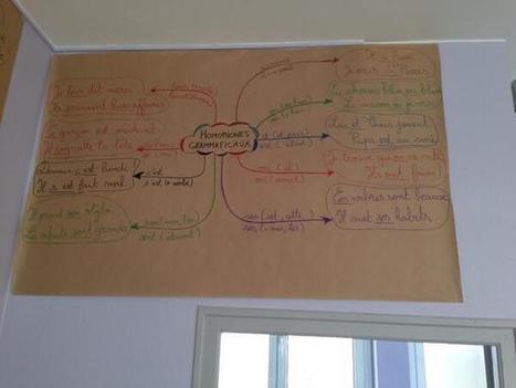 Carte mentale : les homophones | Enseigner les ... | Lettres et Cartes Heuristiques | Scoop.it