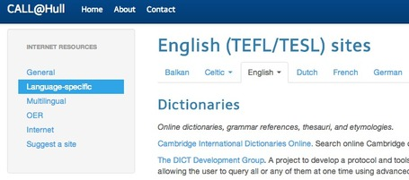 CALL@Hull: English (TEFL/TESL) sites | TELT | Scoop.it