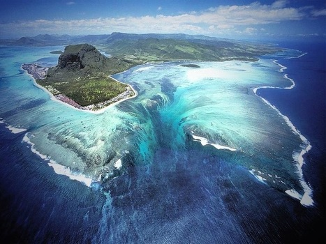 Spectacular Aerial Illusion of an Underwater Waterfall | Aardrijkskunde | Scoop.it
