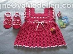 Örgü bebek elbisesi nasıl yapılır?   İğne Oyası Modelleri   Scoop.it