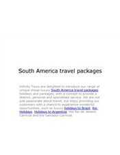 South America travel packages.pptx | luxury South America and Central America tours | Scoop.it