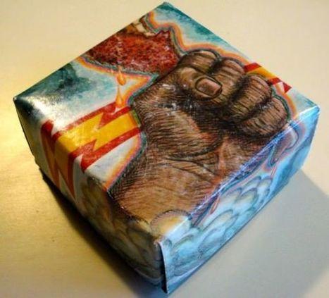 Album cover origami   1001 Recycling Ideas !   Scoop.it
