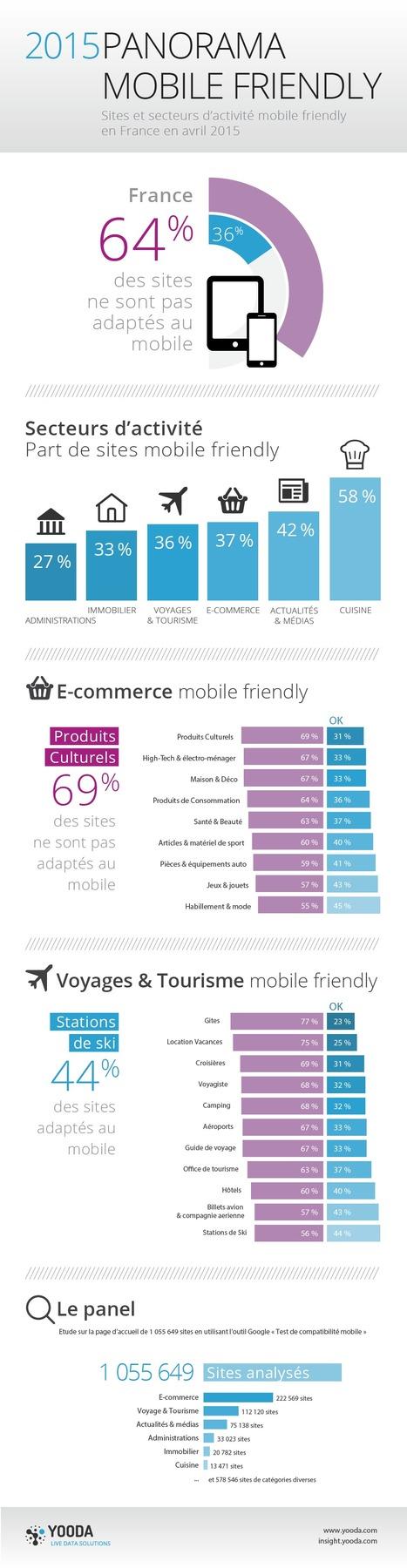 [Infographie] La compatibilité mobile des sites français | Médias sociaux : actualités et pépites du web | Scoop.it