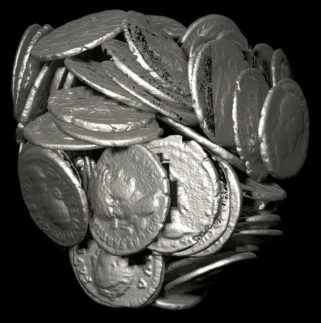 Computed Tomography of a collection of Roman coins (James Miles; Richard Boardman; Mark Mavrogordato)   Archaeology of Portus   Scoop.it