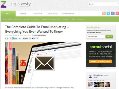 Simply Zesty – The Complete Guide To Email Marketing – Everything You Ever Wanted To Know | Email Marketing | eCRM and Email Marketing | Scoop.it