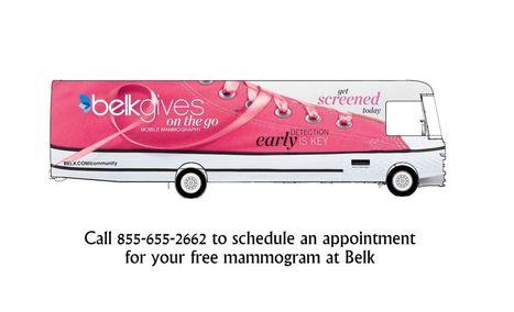 CoolSprings Galleria-Belk Give on the Go - FREE Mammogram Screenings | Belk, Inc. Modern. Southern. Style. | Scoop.it